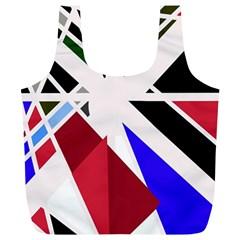 Decorative flag design Full Print Recycle Bags (L)