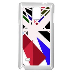 Decorative flag design Samsung Galaxy Note 4 Case (White)