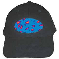 Blue and red neon Black Cap