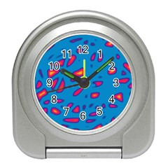 Blue and red neon Travel Alarm Clocks