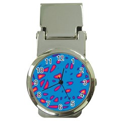 Blue And Red Neon Money Clip Watches