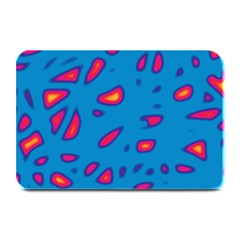 Blue and red neon Plate Mats