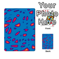Blue and red neon Multi-purpose Cards (Rectangle)