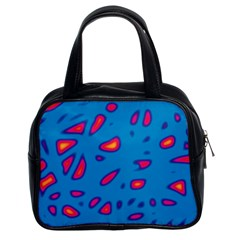 Blue and red neon Classic Handbags (2 Sides)