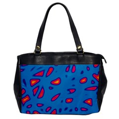 Blue and red neon Office Handbags