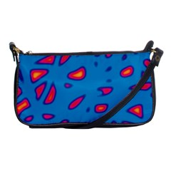 Blue and red neon Shoulder Clutch Bags