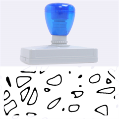Blue and red neon Rubber Address Stamps (XL)