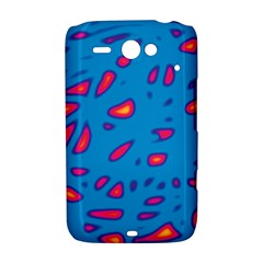 Blue and red neon HTC ChaCha / HTC Status Hardshell Case