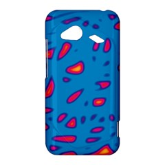Blue and red neon HTC Droid Incredible 4G LTE Hardshell Case