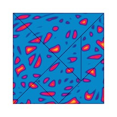 Blue and red neon Acrylic Tangram Puzzle (6  x 6 )