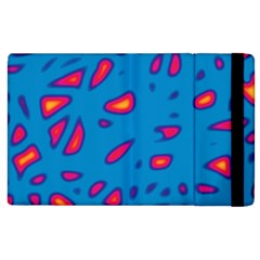 Blue and red neon Apple iPad 2 Flip Case