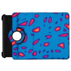 Blue and red neon Kindle Fire HD Flip 360 Case