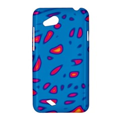 Blue and red neon HTC Desire VC (T328D) Hardshell Case
