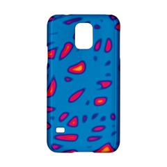 Blue and red neon Samsung Galaxy S5 Hardshell Case