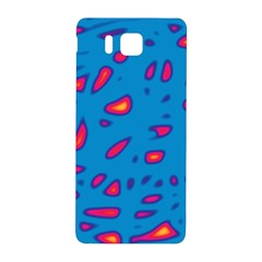 Blue and red neon Samsung Galaxy Alpha Hardshell Back Case