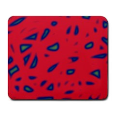 Red neon Large Mousepads