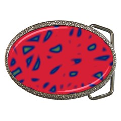 Red neon Belt Buckles