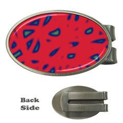 Red neon Money Clips (Oval)