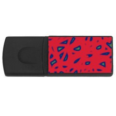 Red neon USB Flash Drive Rectangular (2 GB)