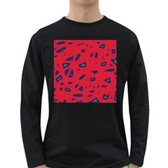 Red neon Long Sleeve Dark T-Shirts