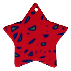 Red neon Star Ornament (Two Sides)