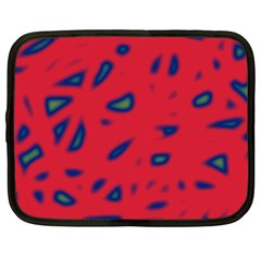 Red neon Netbook Case (Large)