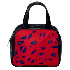 Red neon Classic Handbags (One Side)