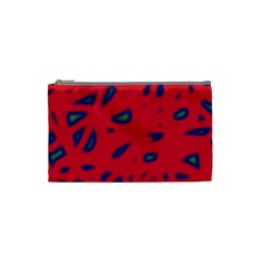 Red neon Cosmetic Bag (Small)
