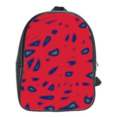 Red neon School Bags(Large)