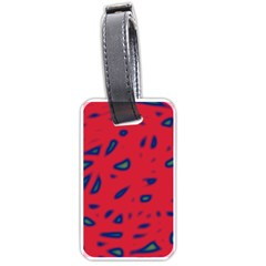 Red neon Luggage Tags (Two Sides)