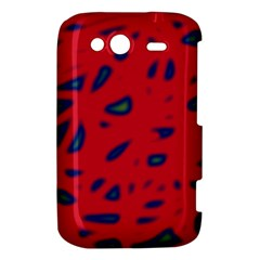 Red neon HTC Wildfire S A510e Hardshell Case