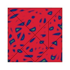 Red neon Acrylic Tangram Puzzle (6  x 6 )