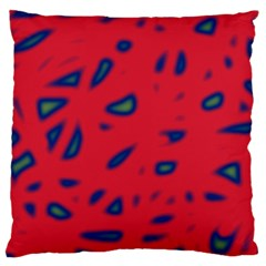 Red neon Large Cushion Case (One Side)