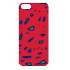 Red neon Apple iPhone 5 Seamless Case (White)