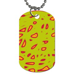 Yellow neon design Dog Tag (One Side)