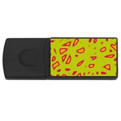 Yellow neon design USB Flash Drive Rectangular (1 GB)