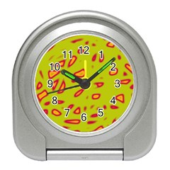 Yellow neon design Travel Alarm Clocks
