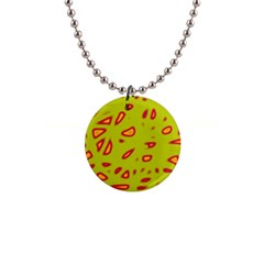 Yellow neon design Button Necklaces