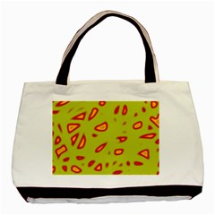 Yellow neon design Basic Tote Bag (Two Sides)