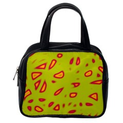 Yellow neon design Classic Handbags (One Side)