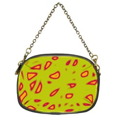Yellow neon design Chain Purses (Two Sides)