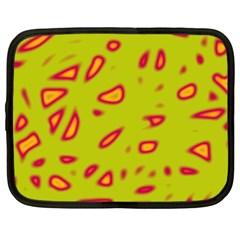 Yellow neon design Netbook Case (XXL)
