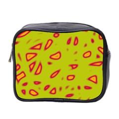 Yellow neon design Mini Toiletries Bag 2-Side