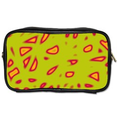 Yellow neon design Toiletries Bags 2-Side