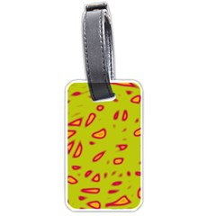 Yellow neon design Luggage Tags (One Side)
