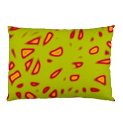 Yellow neon design Pillow Case (Two Sides)