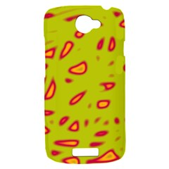 Yellow neon design HTC One S Hardshell Case