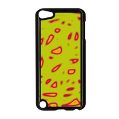 Yellow neon design Apple iPod Touch 5 Case (Black)