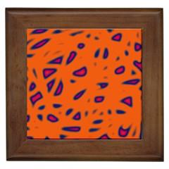 Orange neon Framed Tiles