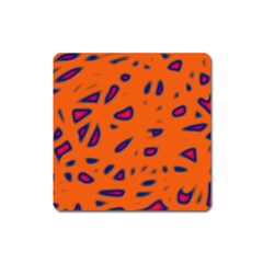 Orange neon Square Magnet